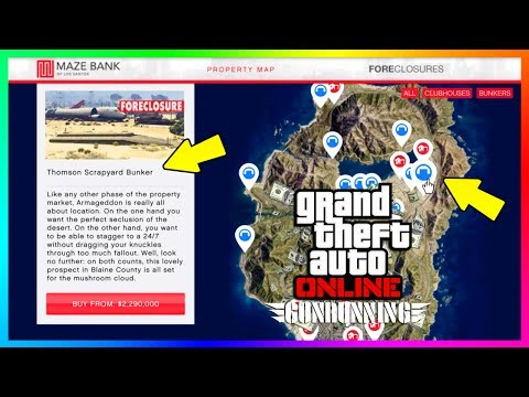 GTA ONLINE GUNRUNNING DLC BEST BUNKER LOCATION, SECRET FEATURES/HIDDEN DETAILS, NEW REWARDS & MORE!