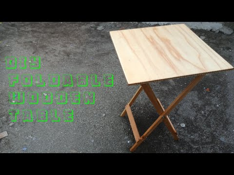 DIY/ Foldable Wooden Table