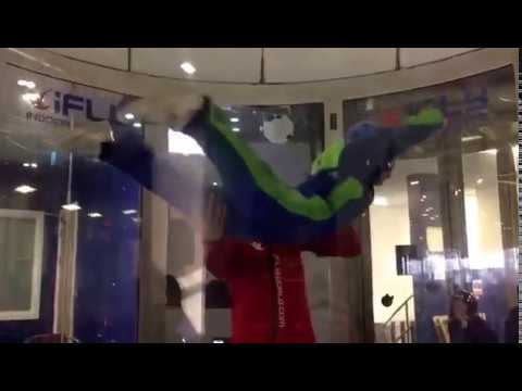 Exciting day out with Kids doing iFly high rise to the top (Zoe)