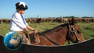 Argentinian Gauchos and their horses