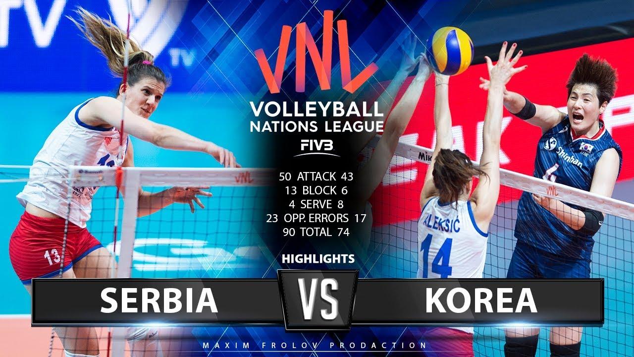 Serbia vs. Korea | Highlights | Women's VNL 2019