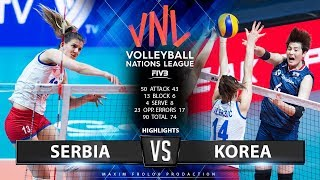 Serbia vs. Korea | Highlights | Women's VNL 2019