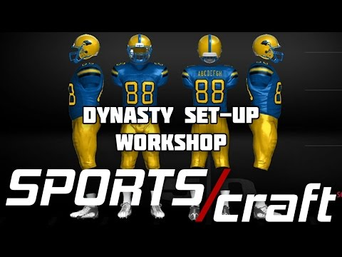 DYNASTY AND TEAMBUILDER SET-UP WORKSHOP FOR NCAA 14 | Sports