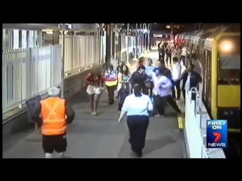 Seven News Sydney - Unsafe train stations (22/9/2014)