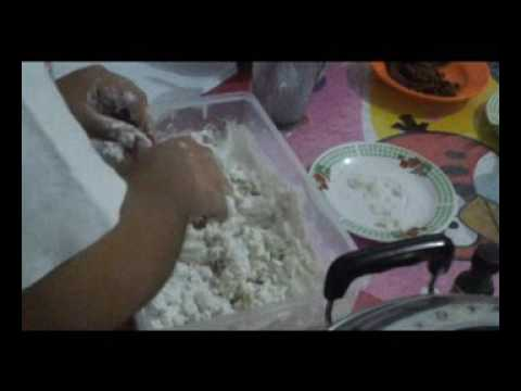 Making Onde Onde Cake
