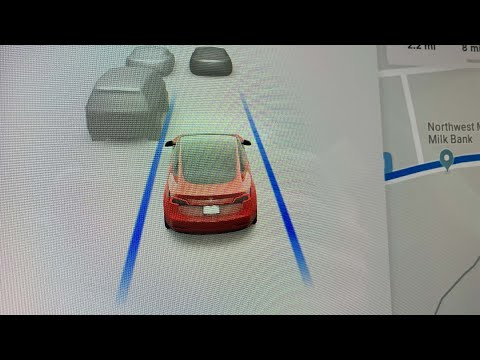 First look at Tesla's new in-car driving visualization