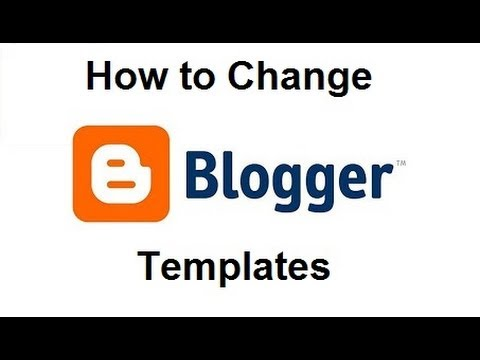 How to Install a Google Blogger Template - YouTube