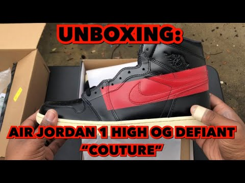"bddf40fab1edfc UNBOXING  AIR JORDAN 1 HIGH DEFIANT ""COUTURE"". SneakerWhorez.com"