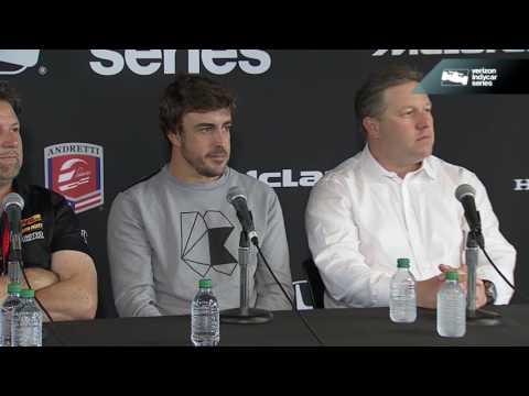 Fernando Alonso Press Conference At Barber Motorsports Park