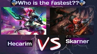 League of legends Who is the fastest ?/ Funny moment