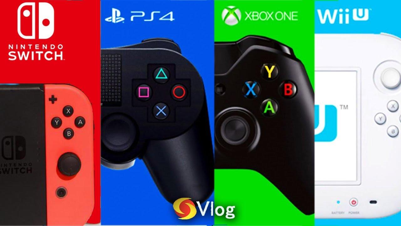 Xbox 1 Vs Ps4 Vs Wii U Nintendo Switch vs PS4...