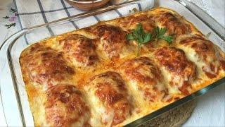 Huevos rellenos de carne gratinados (receta muy fácil) thumbnail