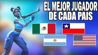 CADA PAIS Y SU MEJOR JUGADOR / FORTNITE BATTLE ROYALE