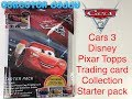 Cars 3 Disney Pixar Topps trading card collection starter pack