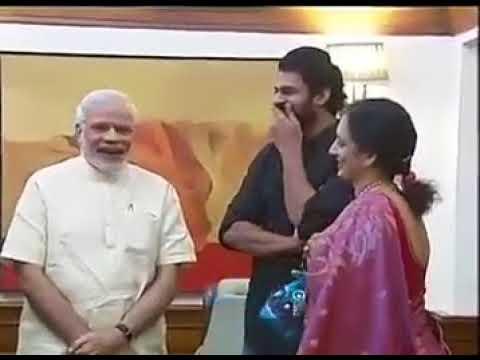 Bahubhali prabhas and krishnam raju meets prime minister Modi !! BJP