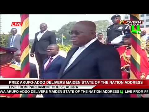 Full Speech: Prez. Akufo-Addo's Maiden State Of The Nation Address