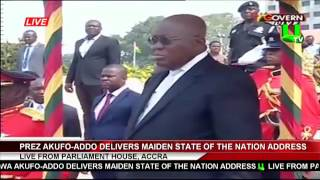 Full Speech: Prez. Akufo-Addo's Maiden State Of The Nation Address