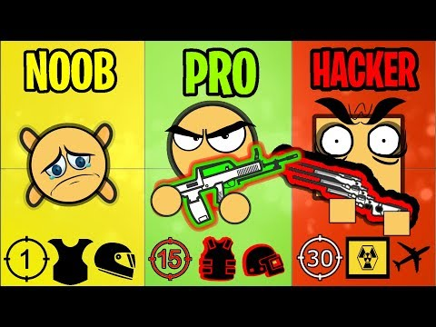 NOOB Vs PRO Vs HACKER - Surviv.io Battle Royale Highlights