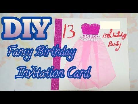 DIY Birthday Invitation Card|how To Make A Birthday Invitation|alboe