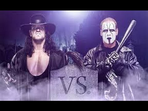 (2016)THE UNDERTAKER Face Face VS STING raw hd Hell in a sell................