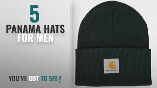 Top 10 Panama Hats For Men [2018]: Carhartt Mens Acrylic Watch Hat A18 Hat