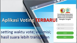 Aplikasi Pemilihan Voting online TERBARU! makin KEREN dan LENGKAP!