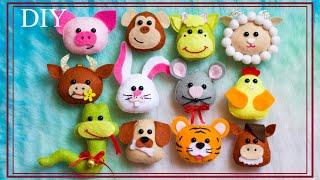 DIY Christmas toys | Новорічні іграшки своїми руками | 12 символів Нового Року