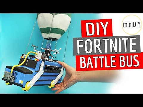 DIY Miniature Roblox Fortnite Battle Bus - Roblox Fortnite Battle Royale