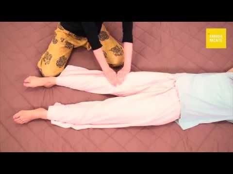 02脚の内側・足の甲・脚の外側のマッサージ