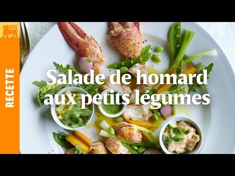 Salade de homard aux petits legumes
