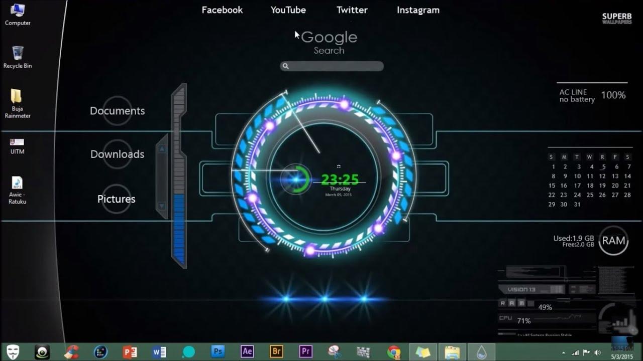 Tutorial Rainmeter : How to install Rainmeter Skin (Mediafire Download)