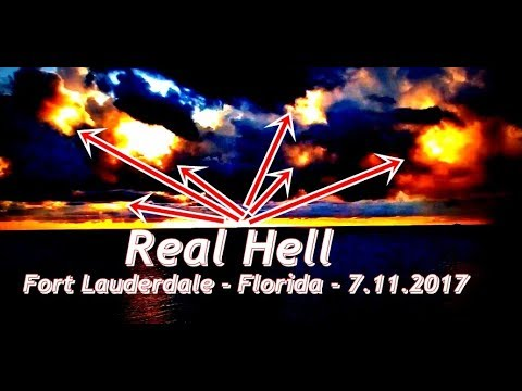 OUR SCARY SKY***REAL HELL*** FORT LAUDERDALE 7.11.2017