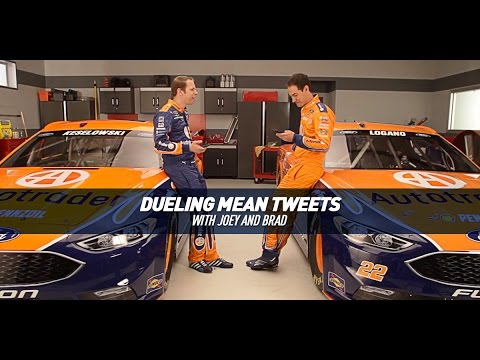 Dueling Mean Tweets with NASCAR Drivers Brad Keselowski & Joey Logano
