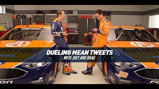 Dueling Mean Tweets With Nascar Drivers Brad Keselowski & Joey Logano