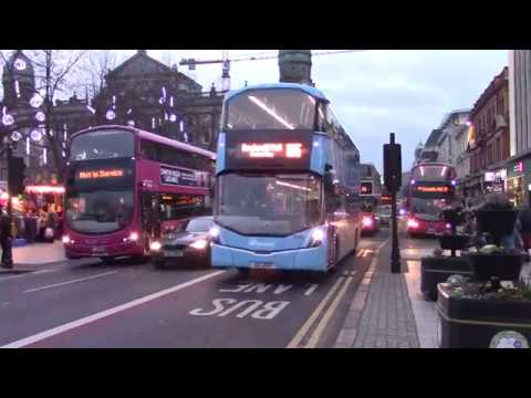Buses in Belfast City Centre 20/12/18