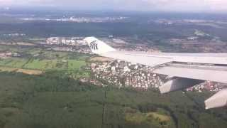 Taking off at Frankfurt Airport - EgyptAir A330-200