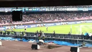 Napoli udinese 4-2 gol tonelli live curva b #forzanapolisempre