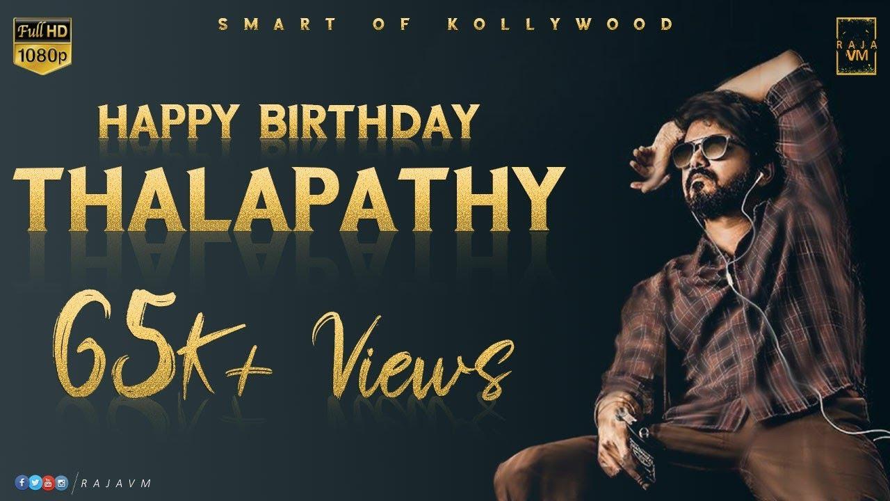 Thalapathy Vijay Birthday WhatsApp Status Video 2020  Vijay Birthday Mass Mashup HBD Thalapathy Vj