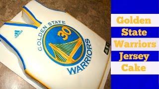 Golden State Warriors Basketball Jersey Cake