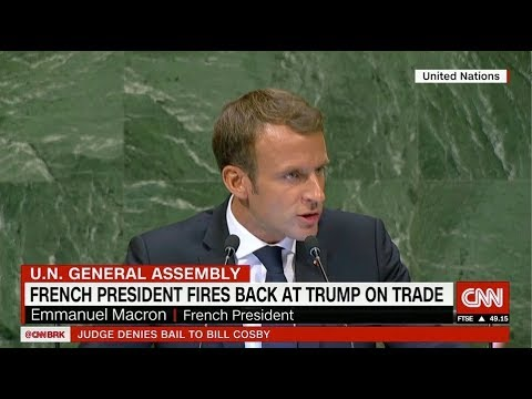 Macron throws shade at the United Nations