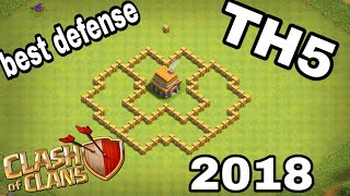 NEW Town Hall 5 (TH5) TROPHY / WAR Base Design 2018 !! COC Best TH5 Trophy Base - Clash Of Clans