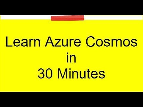 Azure Cosmos db tutorial