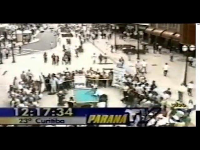 Noel na Rua XV em Curitiba ao vivo - Desafio de sinuca