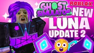 NEW LUNA UPDATE 2 ! QUESTLINE + DISTORTED VACUUM & PACK + WISP PET 👻 Ghost Simulator Roblox PRO PC