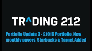 Trading212 ISA UK Dividend Investing Portfolio Update 3 - £1016, New monthly stocks and king added!
