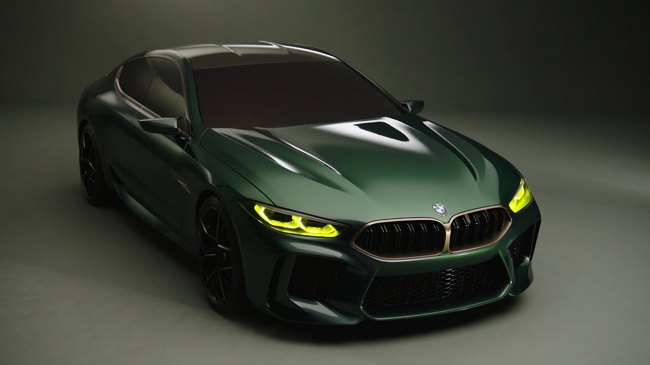 hight resolution of bmw m8 gran coupe concept official video