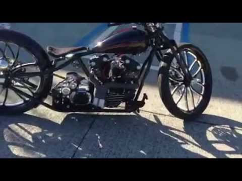 "Custom Indian Motorcycle For Sale >> new board tracker style bobber motorcycle 95"" knuckle head ..."