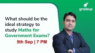 LIVE Session on Maths Strategy by Sandeep Sir @ 7 PM today