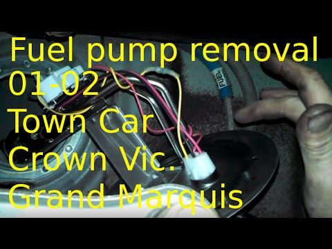 Fuel pump replacement 2001 2002 Lincoln Town Car Install gas pump