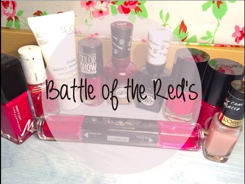 Nagellack Review - Kampf der roten Giganten / The battle of the red lacquer